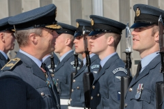 II Squadron RAF Regiment consecration of new standard parade at RAF Brize Norton