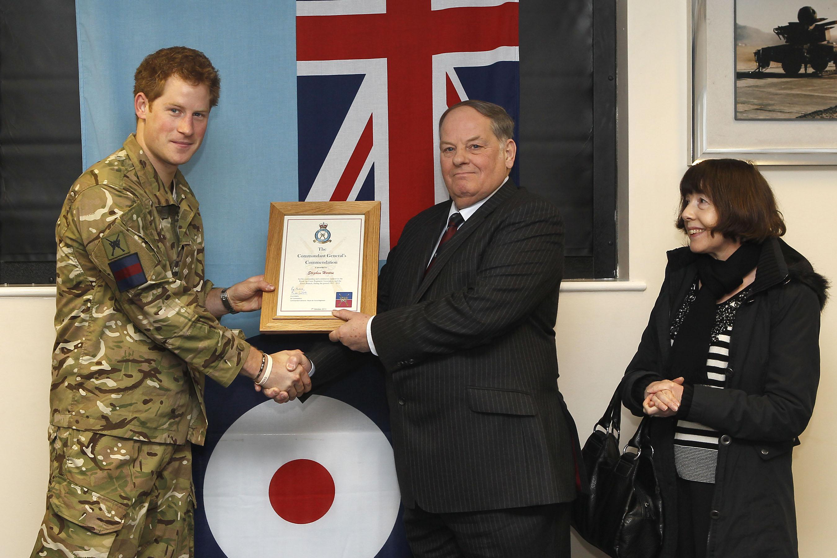 PRINCE HARRY VISITS RAF HONINGTON