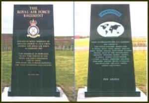 The RAF Regiment Memorial Stone at the National Memorial Arboretum
