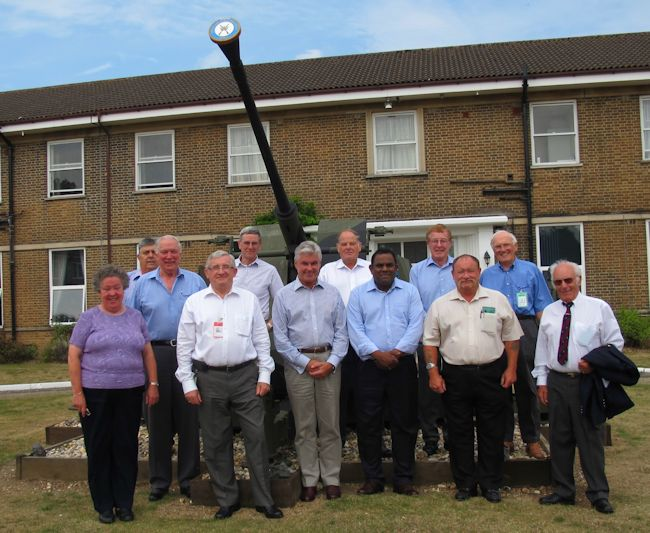 NEC pose in front of Bofors gun at RAF Honington
